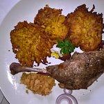 Márton napra: Sült (omlós!) libacomb sütőtökös tócsnival