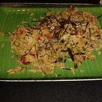 ensalada japonesa de wakame y calabacín