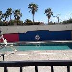 Teeny tiny pool area