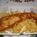 Fish & Chips, large portions & excellent white Cod