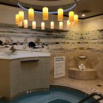 Whirlpool inside women's locker room at Miraval Spa