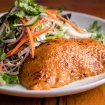 HONEY MISO SALMON SALAD Cucumber, Bean Sprouts, Snow Peas, Carrots, Cabbage, Mixed Garden Greens