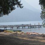 The dock at Lake Crescent Lodge