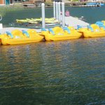 Some of the watercraft you can rent at Log Cabin Resort