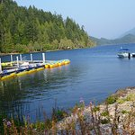 The dock at Log Cabin Resort