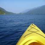 View of Lake Crescent from my kayak