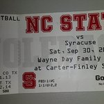 Ticket in section for opposing players family/friends