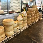 Wheels of parmigiano cheese
