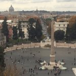 The town square right near the hotel. View of the Vatican from the park.