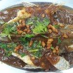 Nasi Pattaya,  steam ikan kerapu pintang, steam   taujiong ikan kerapu, ikan putih masak kicap.,