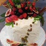 Gluten free white chocolate velvet cake