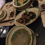 Charcoal grilled beef, Sweet & Sour Broth, Fried Rice with lotus seed