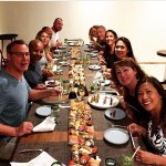 Sushi spread at Kibbeh