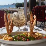 Fresh seafood in our Terrace