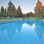 Make a Splash in the Outdoor Resort Pool at the Resort Sports Center