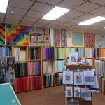 The Quilt Cache, Eagle River, Alaska, is very COLORFUL.