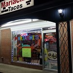 front of & entrance to Mariachi's
