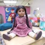 A sweet little doll from The Quilt Cache, Eagle River, Alaska.