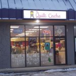 The Quilt Cache, Eagle River, Alaska. Come in for a nice visit.