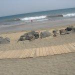 Hier kommt der Strand