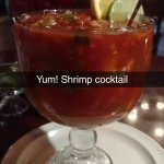 Cóctel de Camarónes, simply known as Mexican Shrimp Cocktail