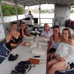 Our group on the lovely new boat
