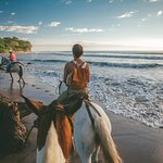 Beachfront horseback riding in Santa Teresa