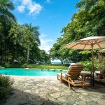 Turquoise pool at Latitude 10