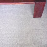 Dirty carpet in apartment lounge