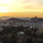 Lovely sunset view of the Acropolis