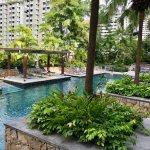 Beautiful pool and gardens.