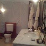 luxury tent bathroom.