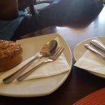 Great Pastries.....apple nougat tart, japonaise tart were both great