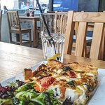 Vegetarian pie with side salad