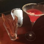 They serve Bacon Strips at the bar - wife had a Pear Martini as well as this one - she loved the