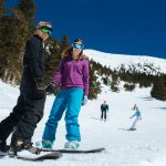 Skiing and riding on bluebird days at Snowbowl