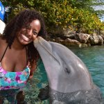 my first dolphin kiss :-)