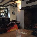 The bar and log fire