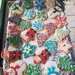 Our holiday sugar cookies have arrived. Come try them before they are gone.