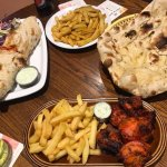 Chicken Tikka (must try!), Naan Bread and Chicken Tikka Wrap -very tasty!