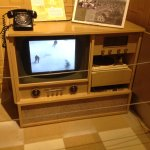 How about the television. Blonde furniture was popular then.