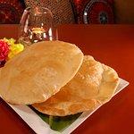 Poori. Indian fried bread