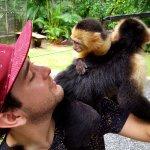 With my monkey friend!