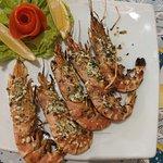 BBQ prawns with garlic