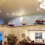Beautiful Model Ships in Lobby