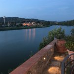 View of the Arno and countryside at dinner