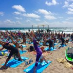Roxy SUP Yoga Run Event