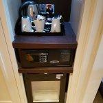 Tea/Coffee facilities, fridge & safe