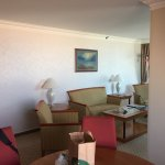 Living and dining rooms of Hilton Budapest suite
