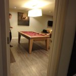 The games room was a nice touch with its own pool table, Xbox, games and sauna